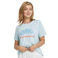 Plus Size Women's Sunshine Graphic Tee by ellos in Seamist Blue (Size 10/12)