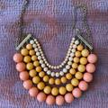 Anthropologie Jewelry | Coral, Pink, Peach Resin Baubbles | Color: Orange/Pink | Size: Os