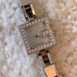 Gucci Accessories | Gucci Mini G Series Diamond Blue Pearl Dial Watch | Color: Blue | Size: Os