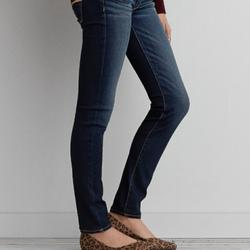 American Eagle Outfitters Jeans   Aeo Denim Skinny Super Stretch Low Rise Jeans   Color: Blue   Size: 2