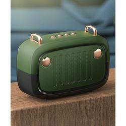 Tech Zebra Wireless Speakers Green - Green Retro Radio Wireless Speaker