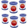 MLXG Pool Filter Cartridge Type I,Cartridge for Pool Cleaning,for Bestway Type I Pool Filter Cartridge,Pool Filter Pumps Universal Replacements Filter Cartridge (6 pcs)