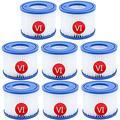 MLXG Type VI Filter Cartridge,Hot Tub Filters Replacements,Type VI Filter Cartridge for Swimming Pool Filters Pump,Replacement Cartridge for Bestway Lay-Z-Spa (8 Pcs)
