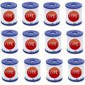 MLXG Pool Filter Cartridge Type I,Cartridge for Pool Cleaning,for Bestway Type I Pool Filter Cartridge,Pool Filter Pumps Universal Replacements Filter Cartridge (12 pcs)