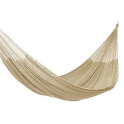 Cotton rope hammock, 'Uxmal Grey' (triple)