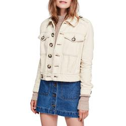 Free People Jackets & Coats   Free People Eisenhower Ivory Denim Jeans Jacket S   Color: Cream   Size: S