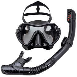 Masque de plongée sous-marine professionnel, ensemble de lunettes antibuée avec lunettes de plongée