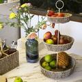 Bay Isle Home™ 2 Tier Fruit Basket Wire Fruit Bowl & Produce Hanging Holder | Free Standing Rustic Farmhouse Decorative Fruit Basket Stand For Storing