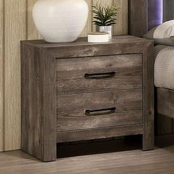 Industrial Lodge Home Montes 2 - Drawer Nightstand in Wood in Brown, Size 23.63 H x 23.63 W x 16.0 D in   Wayfair 6013A473A57340BCB0311685E0A2EEA4