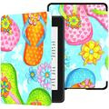 Kindle Paperwhite Case Waterproof Summer Colorful Flip Flop On Beach 10th Kindle Paperwhite Case Case with Auto Wake/Sleep Kindle Paperwhite Case Boys 10th Generation 2018