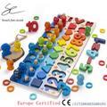 Jouets en bois éducatifs Montessori pour enfants, Puzzle de forme géométrique, jouets de maths,
