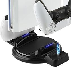 Vertical Stand for PS5 Console and PlayStation 5 Digital Edition, Charger for PS5 Dualsense Wireless Controller,PS5 Base
