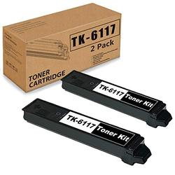 2 Pack Black Compatible TK-6117 Toner Cartridge Replacement for Kyocera TK6117 ECOSYS M4125idn M4132idn 1T02P10US0 Printer Ink Cartridge