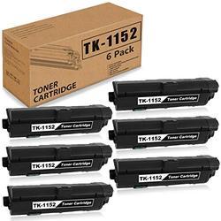 6 Pack Black Compatible TK-1152 Toner Cartridge Replacement for Kyocera TK1152 P2235dw M2635dw M2635dn P2235dn M2135dn M2735dn 1T02RV0US0 Printer Ink Cartridge