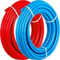 """VEVOR Pex Tubing, 1/2"""" Pex Pipe 500ft Flexible Pex Hose 2 Rolls Blue Red Color Pex Piping Non-Barrier Radiant Floor Heating PEX Tubes for Plumbing Potable Water Cold & Hot Water Line for Residential"""