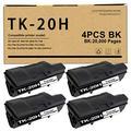 4 Pack Compatible TK-20H TK20H (370PV011) Toner Cartridge Replacement for Kyocera DP-1400 DP-1800 DP-2000 FS-1750 FS-3700 FS-3700A FS-3750 FS-6700 FS-6900 TK-20H 370PV011 Printer Ink Cartridge.