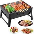 XiuLi Charcoal Grill Folding Grill Stainless Steel Camping Grill Charcoal Barbecue Foldable Charcoal Grill Portable