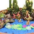 Fairy Garden Micro Landscape Home Garden Decoration Plant Pots Bonsai Craft Decor,Garden Ornaments Simple Lovely Wooden Micro Landscape Flower Pot Decoration
