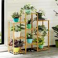 Bamboo Plant Stand, Thickened Frame, Tall Plant Flower Pot Stands, Outdoor Indoor Corner Plant Stand, Vertical Plant Shelf Indoor for Living Room/Balcony Garden