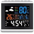 XIXIANDASHA Weather Station Wireless Indoor,Weather Forecast Station Thermometer Hygrometer,Color Display Digital Weather Stations has Humidity Gauge,Alarm Clocks,Adjustable Backlight