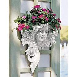 YiLiu French Greenmen Mystic Maiden Wall Sculptures Planter Pockets Garden Statue,Garden Sculptures & Statues,Outdoor Statues,Garden Statues,7.87x7.87 in (A)
