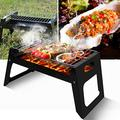 Barbecue Grill Folding BBQ Rack Portable Stainless Steel Charcoal Grill Tool Kits for Outdoor Smoker BBQ Grill Picnic Patio Backyard Camping Cooking, 13.78x8.66x8.86inch