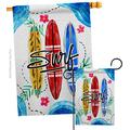 Angeleno Heritage Beach Surf Garden House Flags Set Coastal Tropical Sea Shells Ocean Sand Outdoor Summer Coral Small Decorative Gift Yard Banner Made in USA 28 X 40