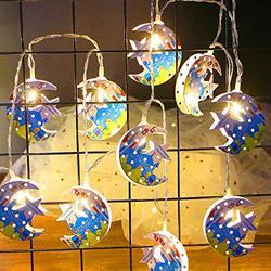Star String Lights for Eid Decorations, Mubarak Ramadan Moon Star Lantern Lamp,10 LEDs Battery Operated Islamic Moon Lights String, Eid Ramadan Decorations for Home Outdoor ,Eid Star Moon