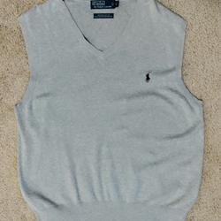 Polo By Ralph Lauren Sweaters | Men'S Sweater Vest | Color: Gray | Size: L