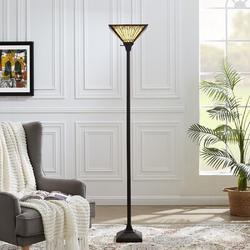Foundry Select Metal Floor Lamp,Standing Lamp w/ Heavy Metal Based, E26 Lamp Base,Floor Lamp For Living Room, Bedroom in Black   Wayfair