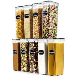Prep & Savour Airtight Food Storage Containers Set Of 9 - Wildone BPA Free Cereal & Dry Food Storage Containers 2.8L/11.83 Cups For Sugar, Flour