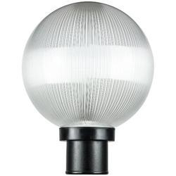 Ebern Designs 10- In. Finish, ETL Listed, Decorative Outdoor Twist Lock Globe Post Fixture, 3- In Post Mount (Not Included)Plastic | Wayfair in Black