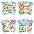 Red Barrel Studio® Set Of 4 Butterfly Shaped w/ Hummingbirds Coasters Ceramic, Size 0.25 H x 0.25 D in | Wayfair CF669E4FB957480FA6486D4430631E8D