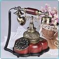 WFZCP Retro Style Phone Retro Phone Antique Telephone Vintage Wired Telephone Salon Coffee Decoration-A Home Desk Decor Ornament
