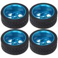 RiToEasysports RC Tire Wheel, RC Wheel Tires Set Compatible with Wltoys 144001 1/14 Remote Control Car Replacement Spare Parts