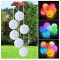 XXJIC Solar Wind Chime for Outside,Color Changing Solar Lights, LED Decorative Mobile, Waterproof Outdoor Solar Lights Home Party Night Outdoor, Gardening Gift Outside Decor Solar Lights Chime