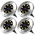SARCCH Solar Ground Lights,Solar Lights Outdoor, 8 LEDs Solar Garden Lights,Landscape Lighting,Disk Lights Waterproof In-Ground Outdoor Solar Lights for Lawn Pathway Yard Walkway Patio Flood Light
