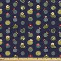 East Urban Home Ambesonne Garden Fabric By The Yard, Flowering Cactus Plants In Pots Succulent Tropical Houseplants Botany Garden   Wayfair