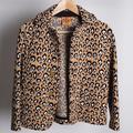 Tory Burch Jackets & Coats   Euc Tory Burch Leopard Print Jacket   Color: Gold   Size: Xs