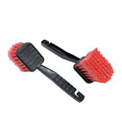 Brosse de roue de voiture poignée en plastique, dépoussiéreur de vitres, véhicule rouge, nettoyeur