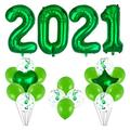 GaLon 40-inch Oversized 2021 Digital Aluminum Foil Balloon Set for Christmas and New Year Party Festival Decorations Business Event (Color : Green)