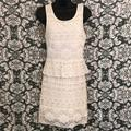 American Eagle Outfitters Dresses   Aeo Crochet Mesh Overlay Peplum Sleeveless Dress   Color: Cream/White   Size: 4