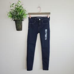 American Eagle Outfitters Jeans | New American Eagle Low Rise Skindigo Dark Wash Jegging Skinny Stretch Jeans 2 | Color: Blue | Size: 2