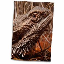 Symple Stuff Maliana Australia, Central Bearded Dragon Lizard, Outback Hand Towel Terry in White, Size 22.0 H x 15.0 W in   Wayfair