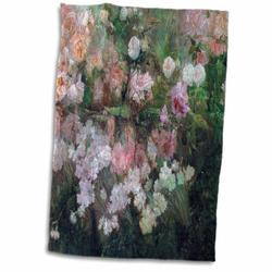East Urban Home Garden in May by Maria Oakey Dewing, 1895 Hand Towel Microfiber/Terry/Cotton in Green/Pink, Size 22.0 H x 15.0 W in | Wayfair