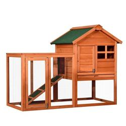 """Tucker Murphy™ Pet 48"""" Wooden Rabbit Hutch, Large Bunny Cage, Outdoor Garden Backyard Chicken Coop, Poultry Hutch, Pet House For Small Animals w/ Wa"""