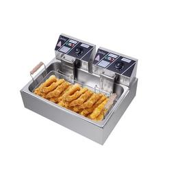 Winado 23.26Qt 5000W Large Commercial/Home Deep Fryer Stainless Steel Single Basket Electric Machine Stainless Steel in Gray | Wayfair 598519457908