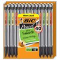 Black, 40 Count, Xtra-Smooth Mechanical Pencil, Medium Point 0.7 Millimeter