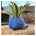 Long Oddish Planter Oddish Flower Pot Succulent Flower Pot Plant Pot Planter (Color : Blue, Sheet Size : Small)