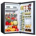 TaoTronics Compact Refrigerator, 3.3 Cu Ft Mini Fridge with Freezer, Reversible Door Low noise, Removable Glass Shelves, for Bedroom Office Garage Studio, Dorm with 3 Temperature Settings